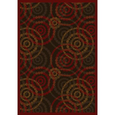 Brown/Red Area Rug Rug Size: 109 x 132