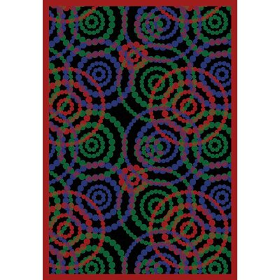 Blue/Red Area Rug Rug Size: 54 x 78