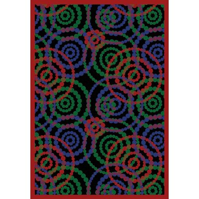 Blue/Red Area Rug Rug Size: 109 x 132
