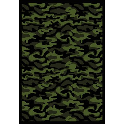 Green Area Rug Rug Size: 54 x 78