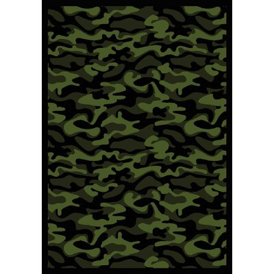 Green Area Rug Rug Size: 78 x 109
