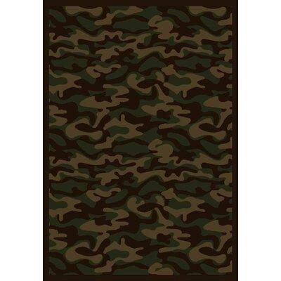 Dark Army Area Rug Rug Size: 10'9