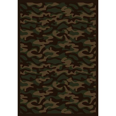 Dark Army Area Rug Rug Size: 78 x 109