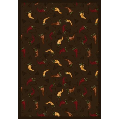 Chocolate Area Rug Rug Size: 109 x 132
