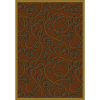 Brown/Black Area Rug Rug Size: 78 x 109