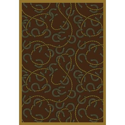 Brown Area Rug Rug Size: 109 x 132