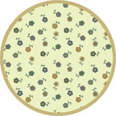 Awesome Blossom Soft Kids Area Rug Rug Size: Round 77
