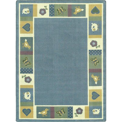 Light Blue Area Rug Rug Size: Rectangle 78 x 109