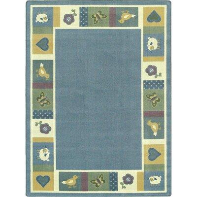 Light Blue Area Rug Rug Size: 109 x 132