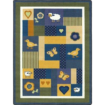 Blue Area Rug Rug Size: 109 x 132
