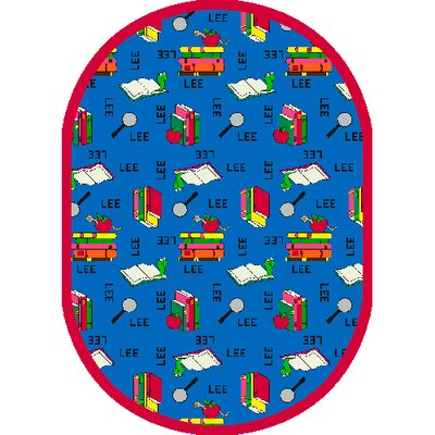 Bookworm Spanish Area Rug Rug Size: Oval 78 x 109