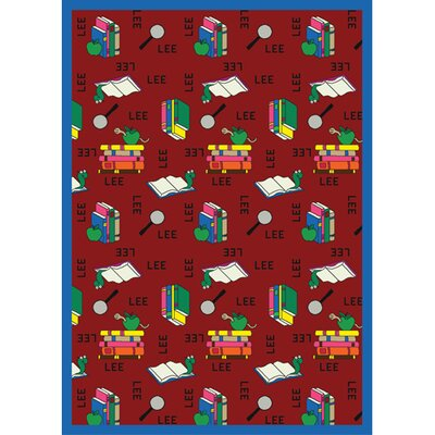 Bookworm Spanish Red Area Rug Rug Size: 54 x 78