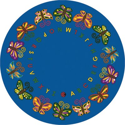 Butterfly Delight Area Rug Rug Size: Round 77