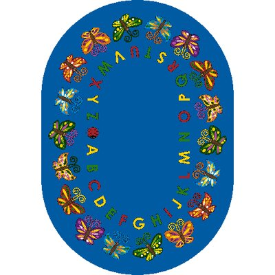 Butterfly Delight Area Rug Rug Size: Oval 54 x 78