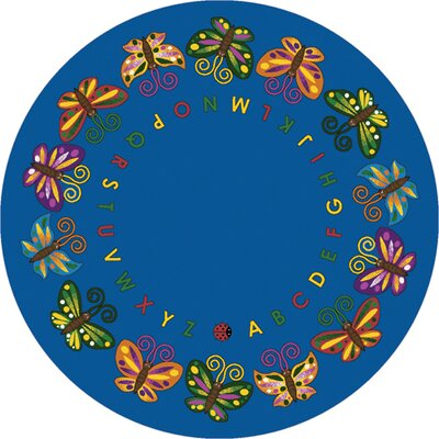 Butterfly Delight Area Rug Rug Size: Round 132