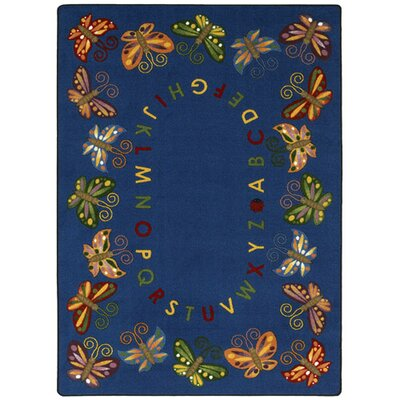 Butterfly Delight Area Rug Rug Size: 109 x 132