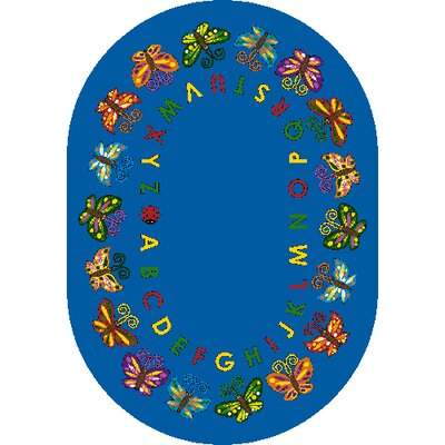 Butterfly Delight Area Rug Rug Size: Oval 78 x 109