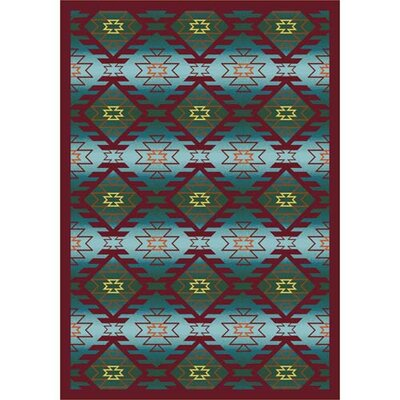 Canyon Ridge Desert Blue Area Rug Rug Size: 109 x 132