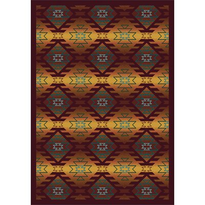Canyon Ridge Orange Area Rug Rug Size: 78 x 109