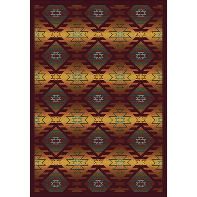 Canyon Ridge Orange Area Rug Rug Size: 54 x 78