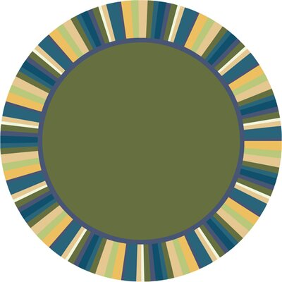 Clean Bold Green Area Rug Rug Size: Round 54