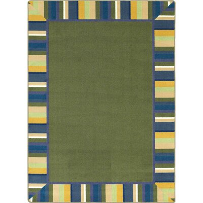 Clean Bold Green Area Rug Rug Size: 109 x 132