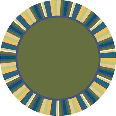 Clean Bold Green Area Rug Rug Size: Round 132