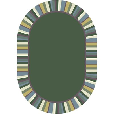 Clean Soft Light Green Area Rug Rug Size: Oval 54 x 78