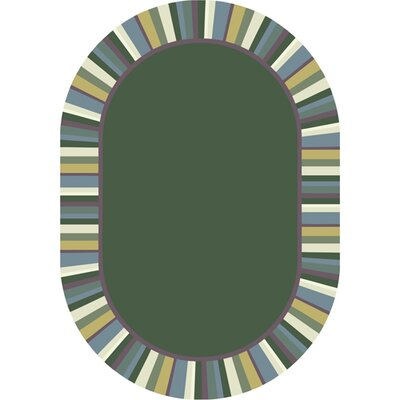 Clean Soft Light Green Area Rug Rug Size: Oval 78 x 109
