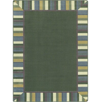 Clean Soft Light Green Area Rug Rug Size: 109 x 132