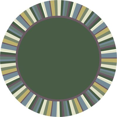 Clean Soft Light Green Area Rug Rug Size: Round 77