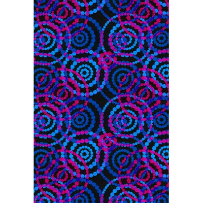 Dottie Fluorescent Area Rug Rug Size: Rectangle 12 x 18