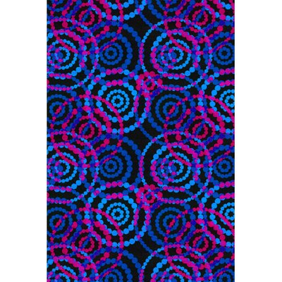 Dottie Fluorescent Area Rug Rug Size: Rectangle 8 x 12