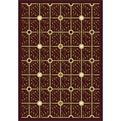 Brown Electrode Area Rug Rug Size: 54 x 78