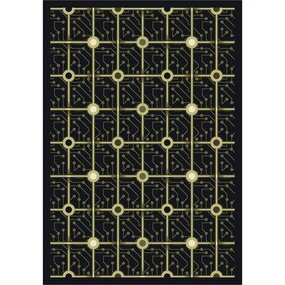 Black Electrode Area Rug Rug Size: 78 x 109