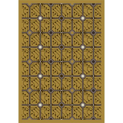 Yellow Electrode Area Rug Rug Size: 54 x 78