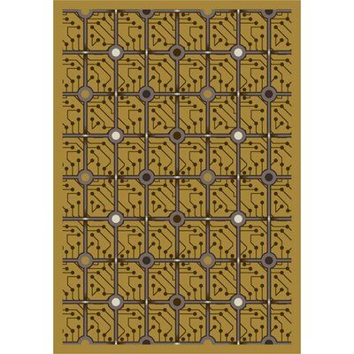 Yellow Electrode Area Rug Rug Size: 78 x 109