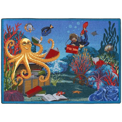Fish Tales Area Rug Rug Size: 54 x 78