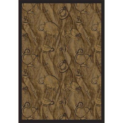 Brown Fresh Brew Area Rug Rug Size: 54 x 78