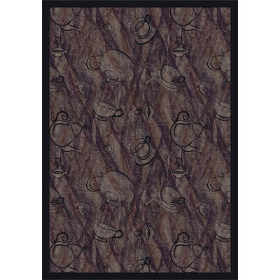 Purple Fresh Brew Area Rug Rug Size: 54 x 78