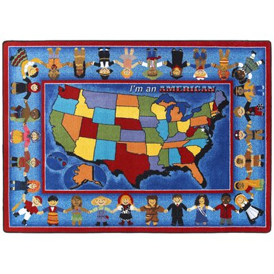 Im an American Area Rug Rug Size: Rectangle 78 x 109