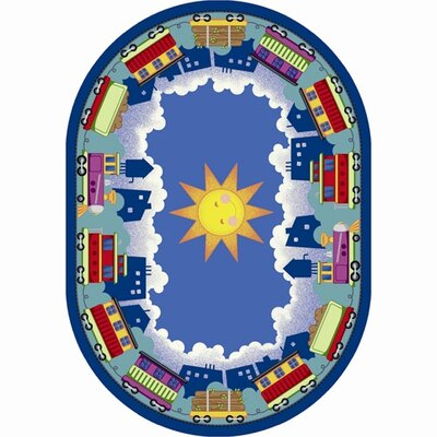 In Training Area Rug Rug Size: Oval 54 x 78