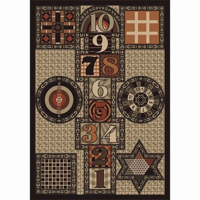 Joy Games Brown Area Rug Rug Size: 54 x 78