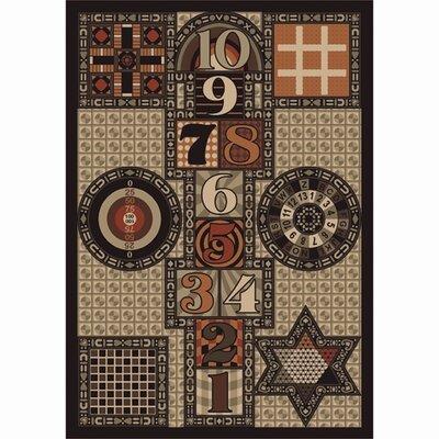 Joy Games Brown Area Rug Rug Size: 109 x 132
