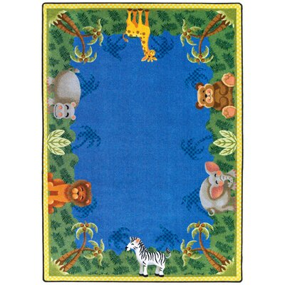 Jungle Friends Area Rug Rug Size: 3'10