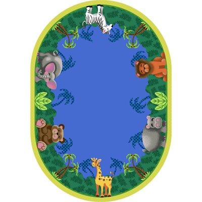 Jungle Friends Area Rug Rug Size: Oval 54 x 78
