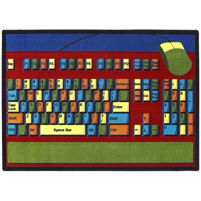 Keyboard Connection Area Rug Rug Size: 54 x 78