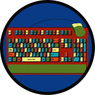 Keyboard Connection Area Rug Rug Size: Round 54