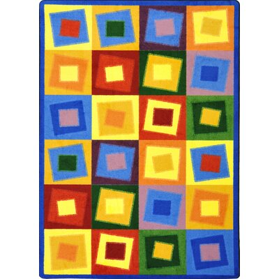 Square off Balance Bright Area Rug Rug Size: 109 x 132