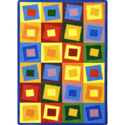 Square off Balance Bright Area Rug Rug Size: 78 x 109